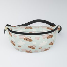 Hoku the Poodle - Dreaming of a Slumber Party Pattern Fanny Pack