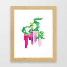 Twist Of Lime Framed Art Print