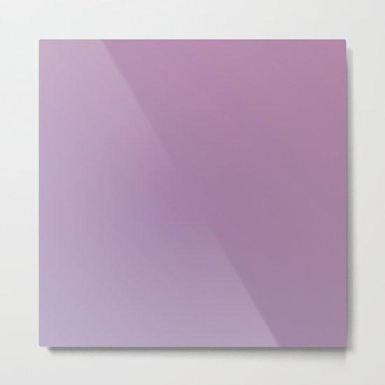 Soft Pink Purple Gradient Metal Print