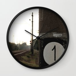 First of many milepost, start of the road Wall Clock