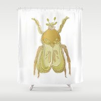bug Shower Curtains featuring bug by Very Sarie