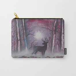 Deer In A Purple Forest Carry-All Pouch