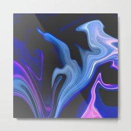 Cotton Candy - Marble Pattern Metal Print