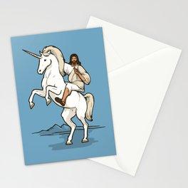 Jesus Riding Unicorn Stationery Cards
