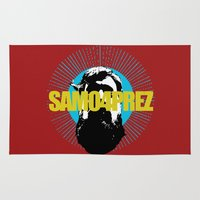 shameless Area & Throw Rugs featuring Logo by SAMO4PREZ