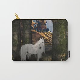 Wonderful white unicorn in the night Carry-All Pouch