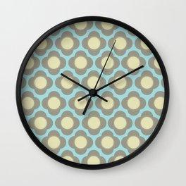 Orla Floral Grey Wall Clock