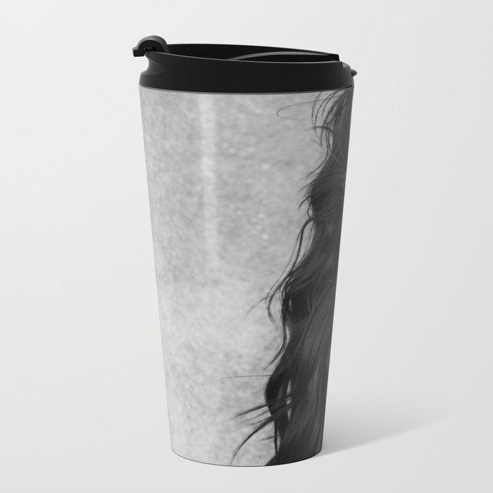Black and white movement Metal Travel Mug