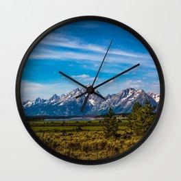Teton Mountains Wall Clock