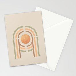 Mininal shape rainbow  Stationery Cards