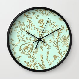 French Floral Pattern Wall Clock