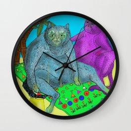 Pussy Paradise Wall Clock
