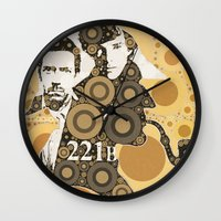 221b Wall Clocks featuring Residents of 221B by MadTee