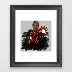 Iron Mandela Framed Art Print