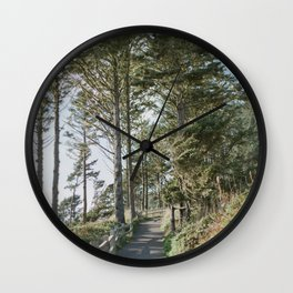 Oregon Coast Path / Fine Art Film Photography Wall Clock