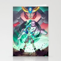gurren lagann Stationery Cards featuring Gurren Lagann - This Drill will pierce the Heavens by Brian Hollins art