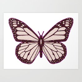 Butterfly Cutie Art Print