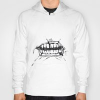 teeth Hoodies featuring Teeth by Tanya_Vazh