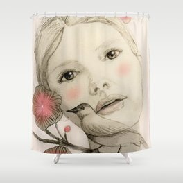 melodie in blush Shower Curtain