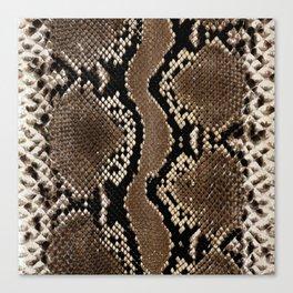 Faux Rock Python Snake Skin Design Canvas Print