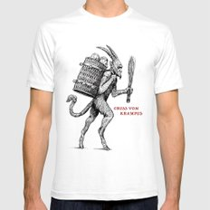 Gruss vom Krampus Mens Fitted Tee White X-LARGE
