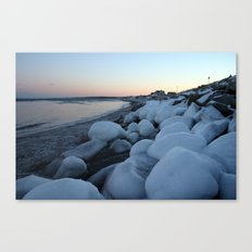 Snowballs on the Beach Canvas Print