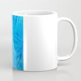 PETAL PINWHEELS - Deep Indigo Blue Royal Blue Turquoise Floral Pattern Swirls Ocean Water Flowers Coffee Mug