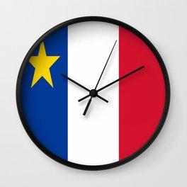 Flag of Acadia / Drapeau de l'Acadie Wall Clock