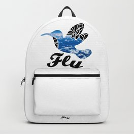 Flying Bird with Clouds Backpack