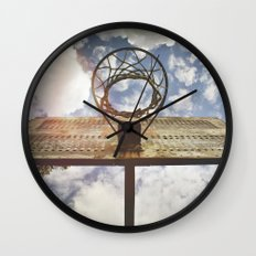 Hoosier Basketball Wall Clock