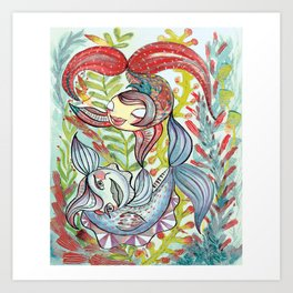 Dancing Fishes Art Print