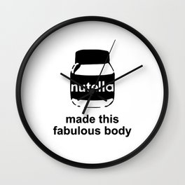 Body Made by Nutella Wall Clock