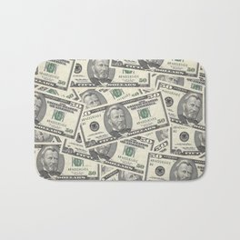 Collage of Currency Graphic Bath Mat