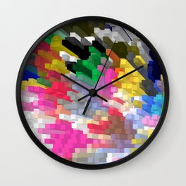 Colorful Skyscrapers Wall Clock