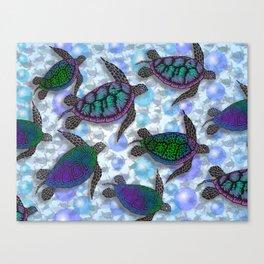 SEA OF TURTLES Canvas Print