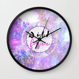 Opal Marble Wild and Free Wall Clock