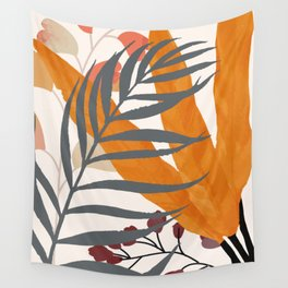 Colorful Red Leaves Wall Tapestry