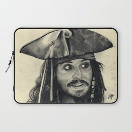 Captain Jack Sparrow ~ Johnny Depp Traditional Portrait Print Laptop Sleeve