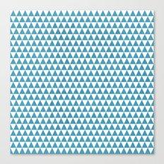 triangles - folk blue and white Canvas Print