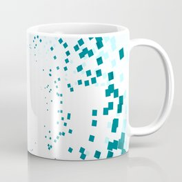 BLUE SQUARES Abstract Art Coffee Mug