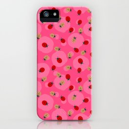 Dot Ladybugs - Rouge & Taffy Pink Color iPhone Case