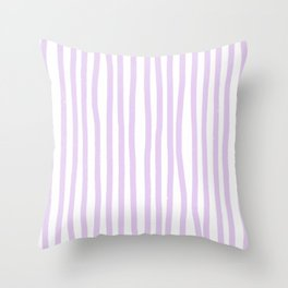 Lavender Stripes Throw Pillow