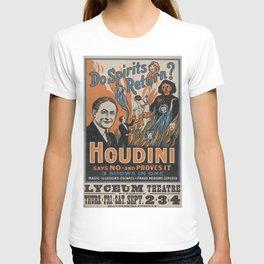 Houdini - vintage poster, spirits T-shirt