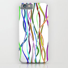 Parallel Lines - Colored iPhone Case