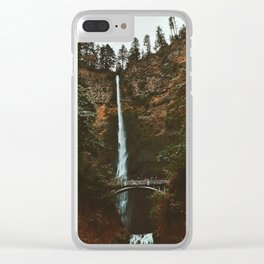 Autumn At Multnomah Falls Clear iPhone Case