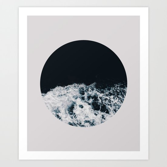 Ocean Moon #society6 #decor #buyart Art Print
