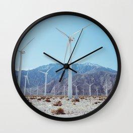 Palm Springs Windmills IV Wall Clock