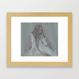 Weighed Down Framed Art Print