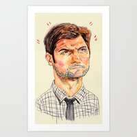 ben giles Art Prints featuring ben by withapencilinhand