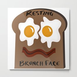 Resting Brunch Face Metal Print